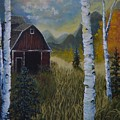 Autumn Red Barn  by Kimberly Benedict