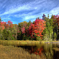 Autumn Reflections On Fly Pond by David Patterson