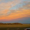 Autumn Sunset At Good Harbor by Harriet Harding