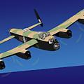Avro Lancaster Bomber by Michael Tompsett