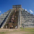 Aztec Pyramid In Mexico by Carl Purcell