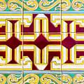 Azulejo - Geometrical Decoration  3 by Andrea Mazzocchetti