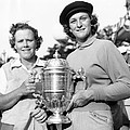 Patty Berg And Babe Didrikson by Underwood Archives