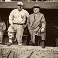 Babe Ruth And John Mcgraw by Mountain Dreams