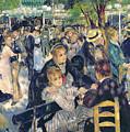 Ball At The Moulin De La Galette by Pierre Auguste Renoir