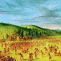 Ball-play Of The Choctaw--ball Up by George Catlin