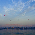 Ballooning Over The Nile by Michele Burgess