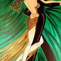 Ballroom Dancers Champagne Tango by Helen Gerro