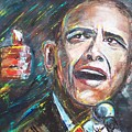 Barack Obama by Valerie Wolf