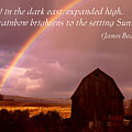 Barn And Rainbow Poster by Roger Soule