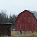 Barn And Shed by Linda Kerkau
