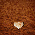 Baseball Homeplate In Brown Dirt For Sports American Past Time by Lane Erickson