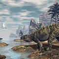 Batrachotomus Dinosaurs -3d Render by Elenarts - Elena Duvernay Digital Art