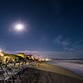 Beach At Night - Spiaggia Di Notte by Enrico Pelos