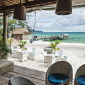 Beach Bar In Sok San Area Of Koh Rong Island Cambodia by Jacek Malipan