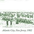Beach, Bathers, Ocean, Atlantic City, New Jersey, 1902 by A Gurmankin