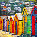 Beach Houses At Fish Hoek by Michael Durst
