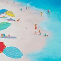 Beach Painting - One Summer by Jan Matson
