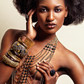 Beautiful African American Woman Wearing Jewelry by Oleksiy Maksymenko