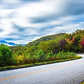 Beautiful Autumn Landscape In North Carolina Mountains by Alex Grichenko