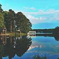 Beautiful Bunn Lake - Zebulon, North Carolina by Library Of Congress