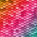Beautiful Pastel Diagonal Rainbow Spectrum II Mermaid Fish Scales by Tina Lavoie