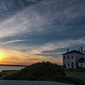 Beavertail Lighthouse by Dennis DiMauro Jr