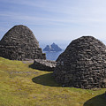 Beehive Stone Huts, Skellig Michael, County Kerry, Ireland by Peter Barritt