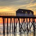 Belmar Fishing Pier Sunrise by Bob Cuthbert
