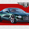 Bentley E X P  10 Speed 6 With  3 D  Badge  by Serge Averbukh