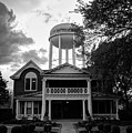 Bentonville Arkansas Water Tower - Black And White by Gregory Ballos