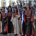 Bethlehemites In Traditional Dress by Munir Alawi