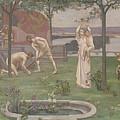 Between Art And Nature by Pierre Puvis de Chavannes