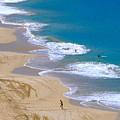 Big Beach On Big Island Of Hawaii by Carl Purcell