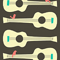 Birds On Guitar Strings by Jazzberry Blue