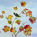 Birds On Maple Tree 8 by Ying Wong