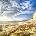 Birling Gap And Seven Sisters Art by David Pyatt