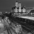 Black And White Fine Art Print Of Union Station In Nashville, Tennessee by Jeremy Holmes