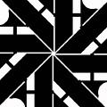 Black And White Geometric by David G Paul