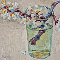 Blossoming Branch In A Glass by Vitali Komarov