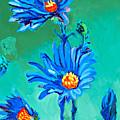 Blue Daisies by Debbie Beukema