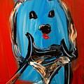 Blue Dog by Mark Kazav