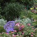 Blue Garden Bench by Allen Nice-Webb