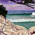 Blue Lagoon Rocks by Stan Hamilton
