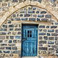 Blue Traditional Door by Tsafreer Bernstein