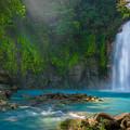 Blue Waterfall by Rikk Flohr