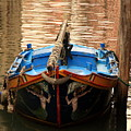 Boat On Canal In Venice by Michael Henderson