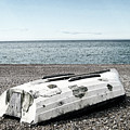 Boat On Seaford Beach by Toula Mavridou-Messer