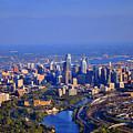 1 Boathouse Row Philadelphia Pa Skyline Aerial Photograph by Duncan Pearson