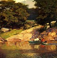 Boating In Central Park Edward Henry Potthast by Eloisa Mannion